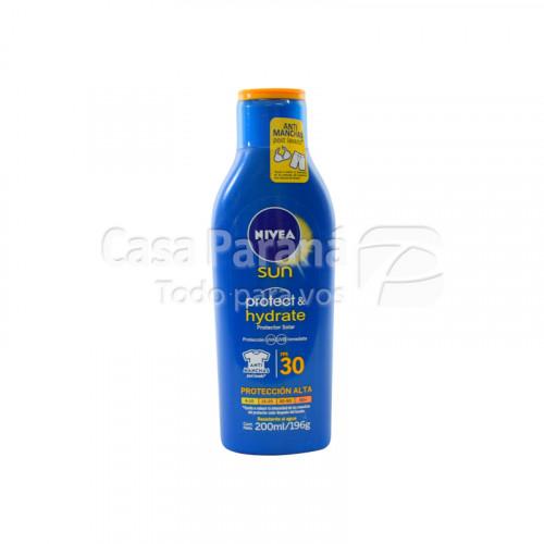 Protector solar hidratante 30 fps de 200 ml