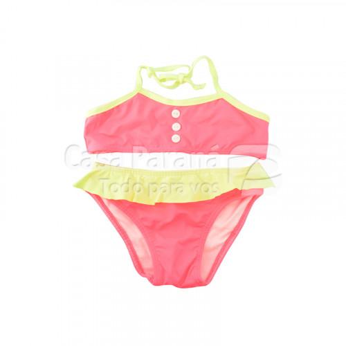 Traje de baño para niña diseños y colores surtidos, tamaño P-G-GG
