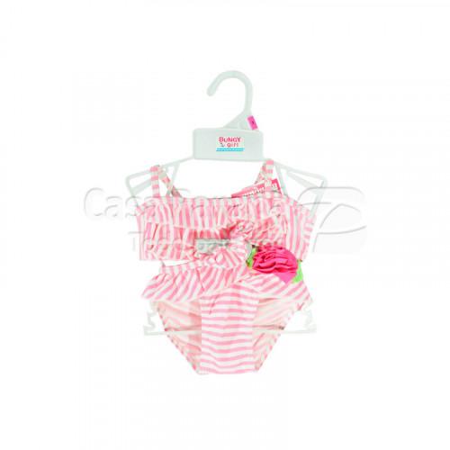 Traje de baño para niña color rosa, celeste, azul, rojo, tamaño 2-4-6-8