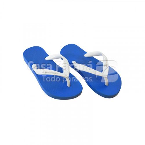 Zapatilla para niñas/os color girs, azul, azul francia, calce del 23 al 28