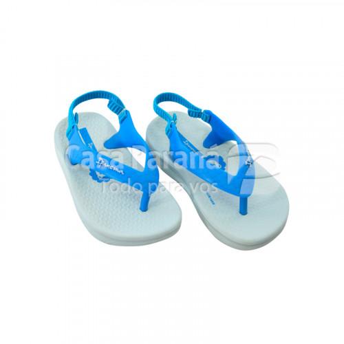 Zapatilla para bebé color celeste, calce del 19 al 21