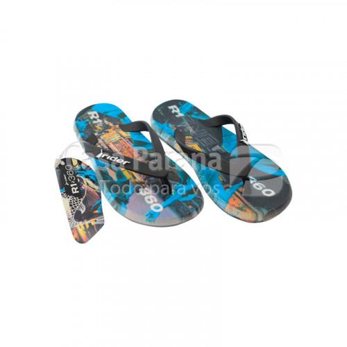 Zapatilla para niños color negro y azul, calce del 20 al 33