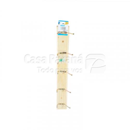 Tendedero de madera con ganchos de metal