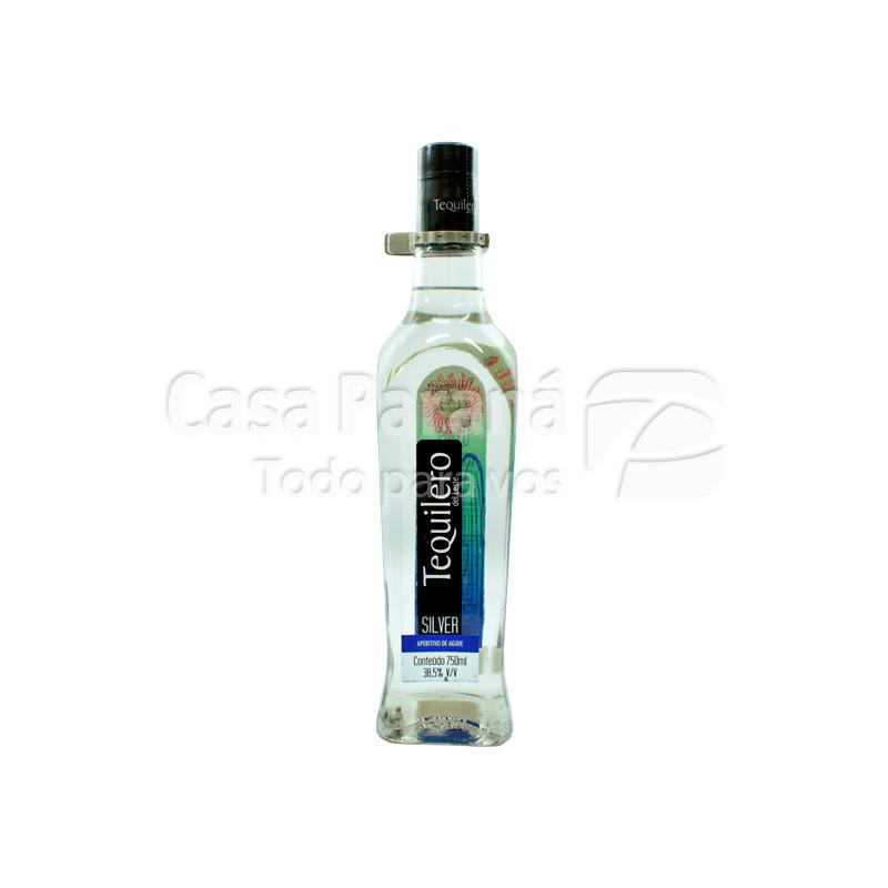 Tequila TEQUILERO plata en botella 720 ml.