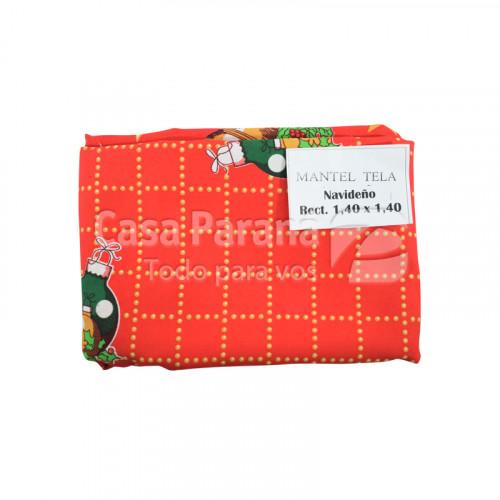 Mantel ractangular navideño de tela de 1,40 x 1,40 metros diseños varios
