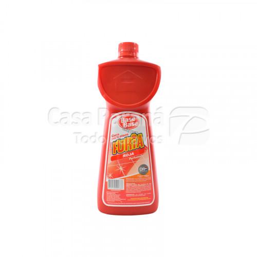 Cera liquida roja perfumada para piso de 750ml
