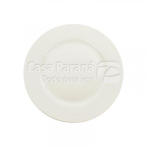 Plato de porcelana blanco