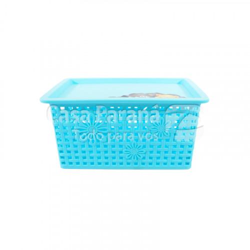 Canasta con tapa rectangular