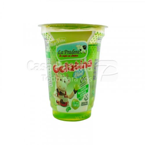 Gelatina Ligth sabor manzana verde de 180g