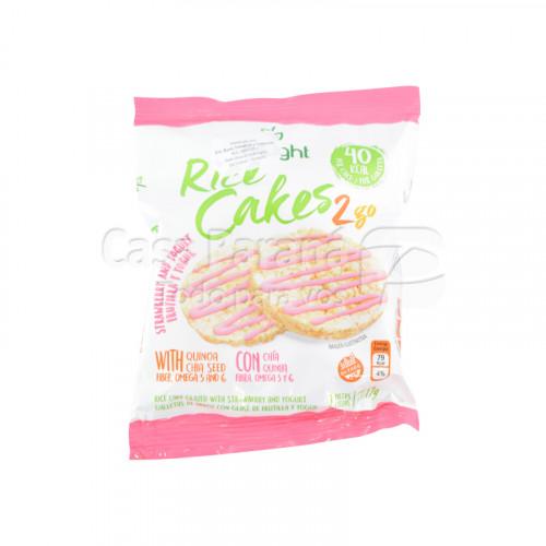 Galleta de arroz lino glase frutilla