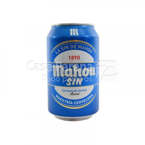 Cerveza Mahou sin alcohol de 330ml