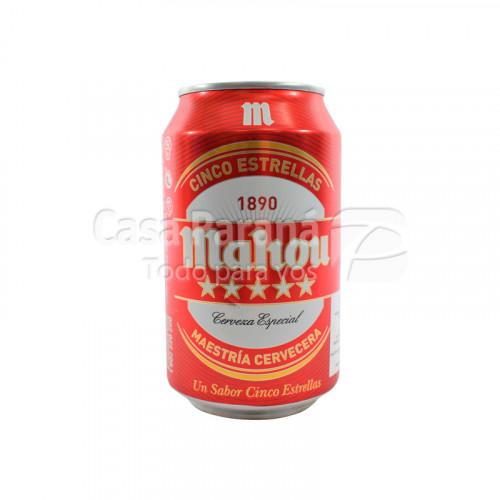 Cerveza Mahou Cinco estrellas de 330ml