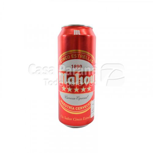 Cerveza Mahou Cinco estrellas de 500ml