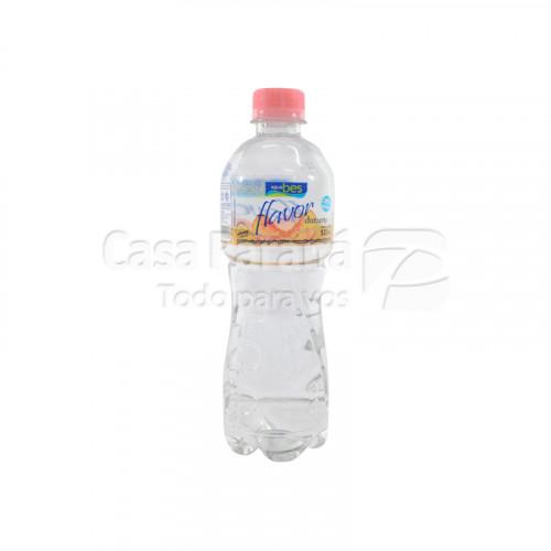 Agua mineral flavor sabor durazno de 520 ml