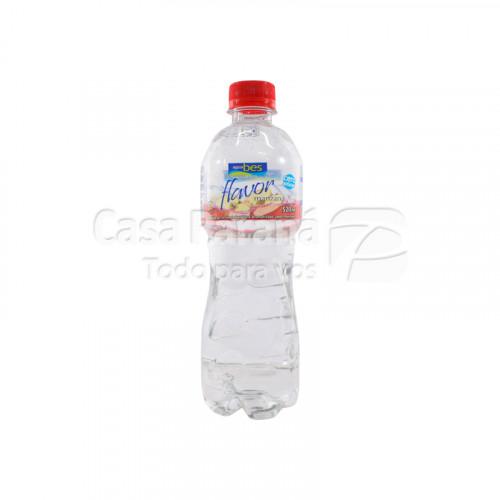 Agua mineral flavor sabor manzana de 520 ml
