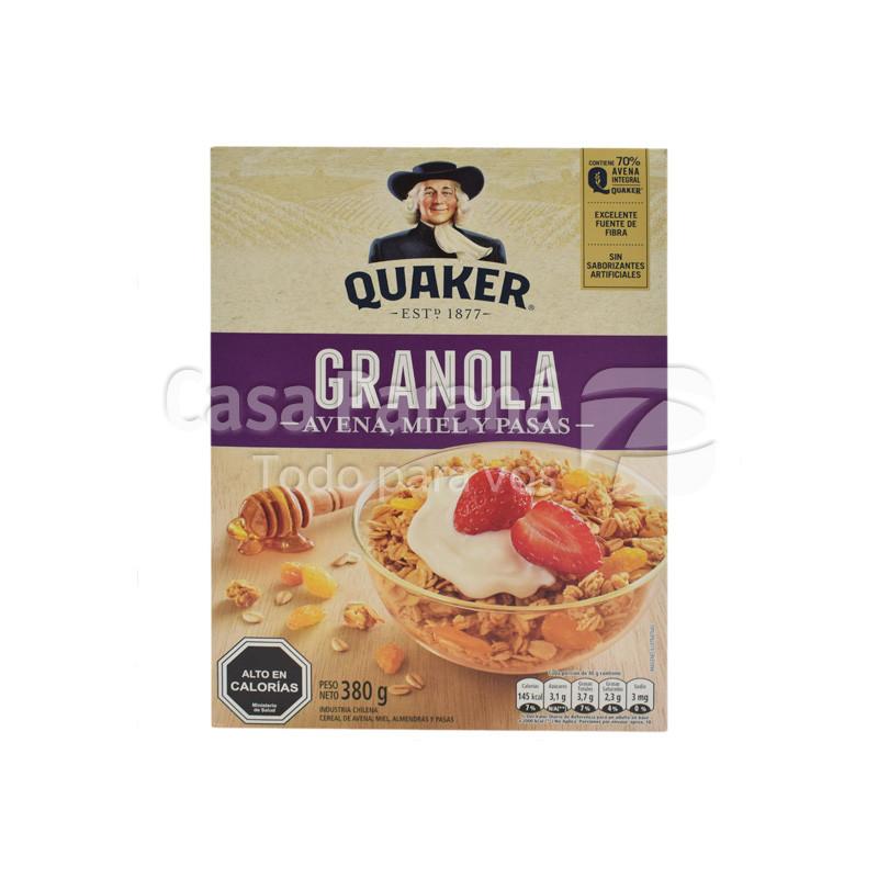 Cereal con granola miel y pasas de 380 gr