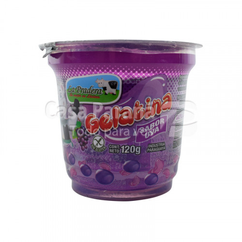 Gelatina sabor uva de 120g