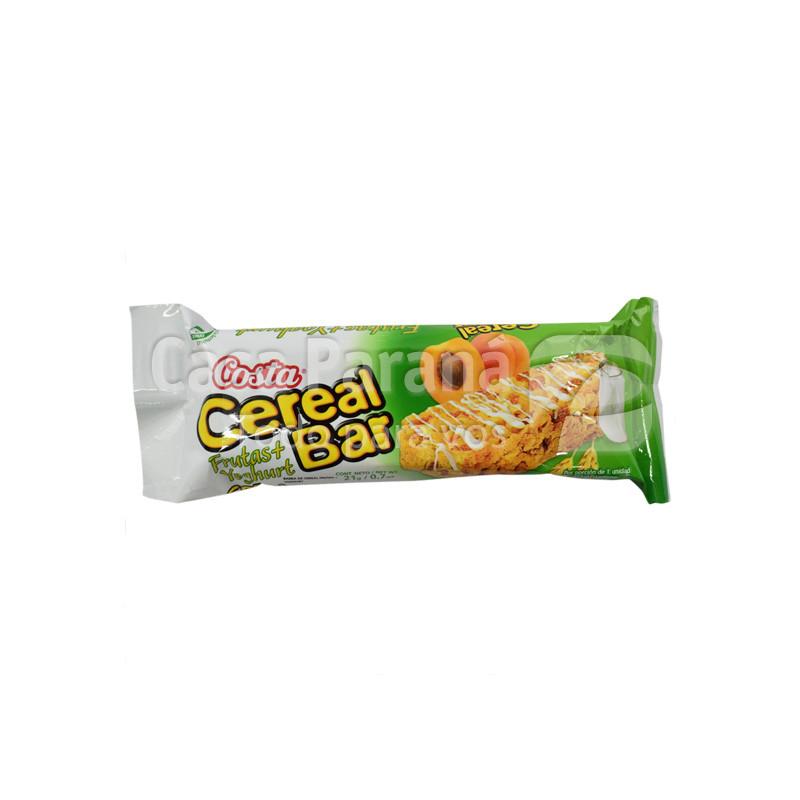 Cereal en barra de fruta y yogurt de 18 gr