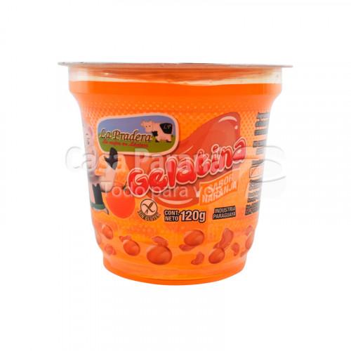 Gelatina sabor naranja de 120g