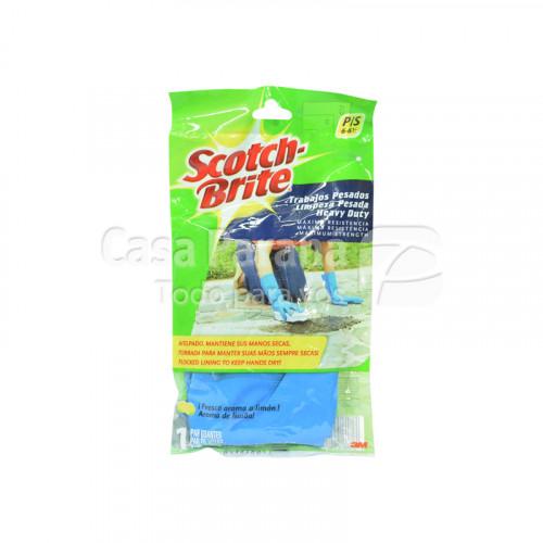 Guante de goma limpieza pesada pequeño