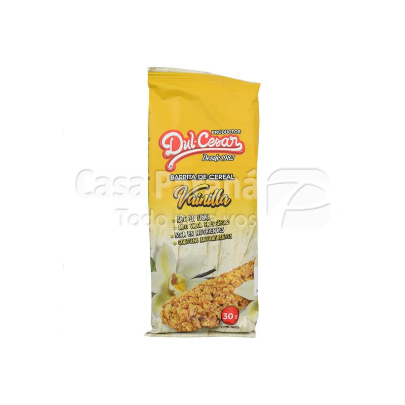 Barra de cereal sabor vainilla de 30 gr