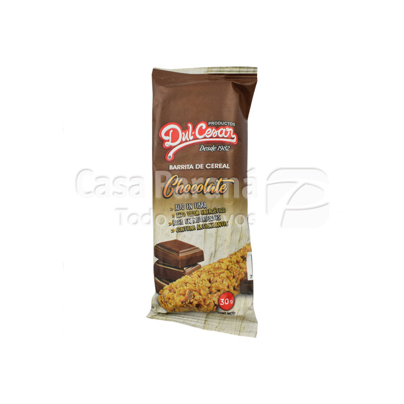 Barrita de ceral sabor chocolate de 30 gr