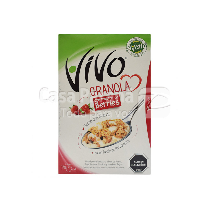Cereal con granola berries de 370 gr