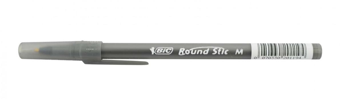 Boligrafo round stick negro