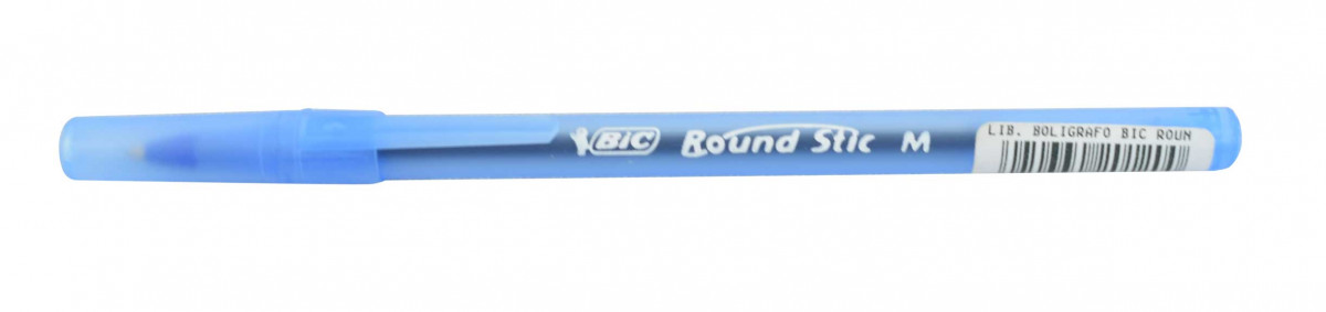 Boligrafo round stick azul
