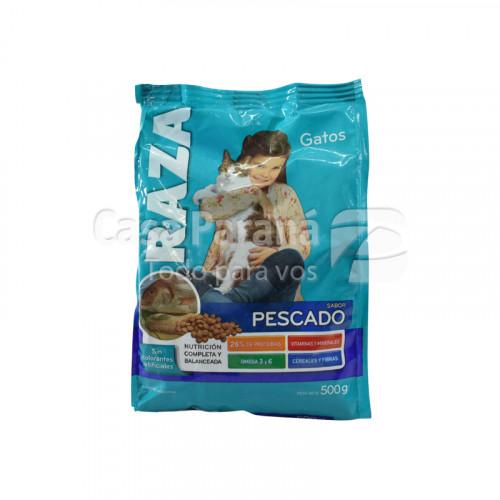 Alimento para gato sabor pescado de 500g