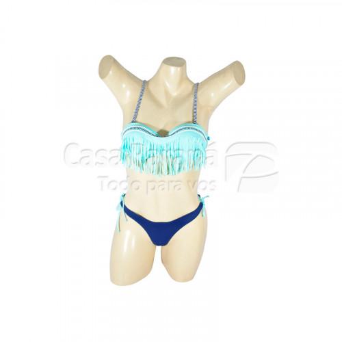 Bikini para dama tamaño del 38 al 46 en colores negro con fluor, azul marino y verde agua