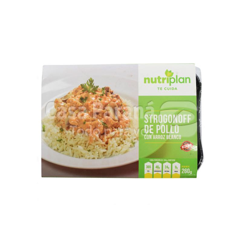 Strogonoff de pollo cin arroz en paquete de 260gr