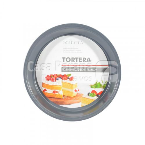 Tortera de teflon antiadherente de 24x4 cm