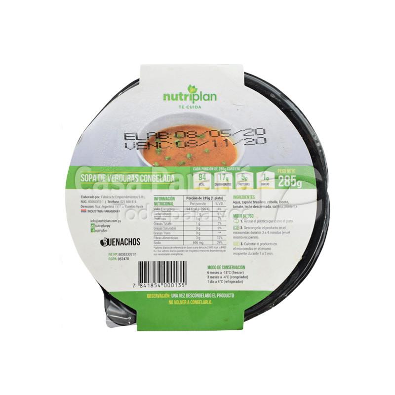 Sopa de verduras de 285gr.