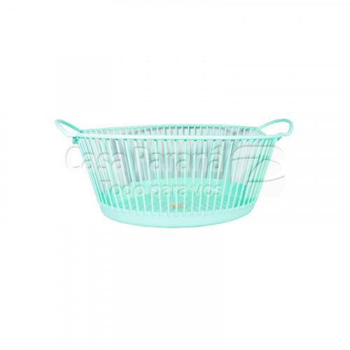 Canasta de plastico para ropa de 25 litros color verde agua