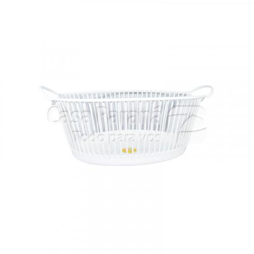 Canasta de plastico para ropa de 25 litros color blanco