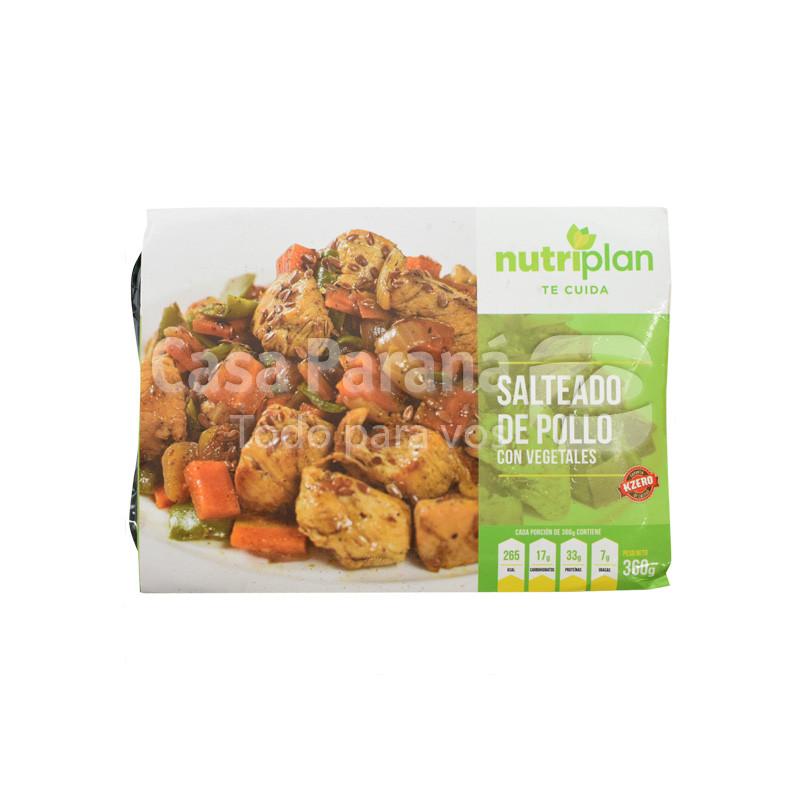 Salteado de pollo con vegetales de 360gr.