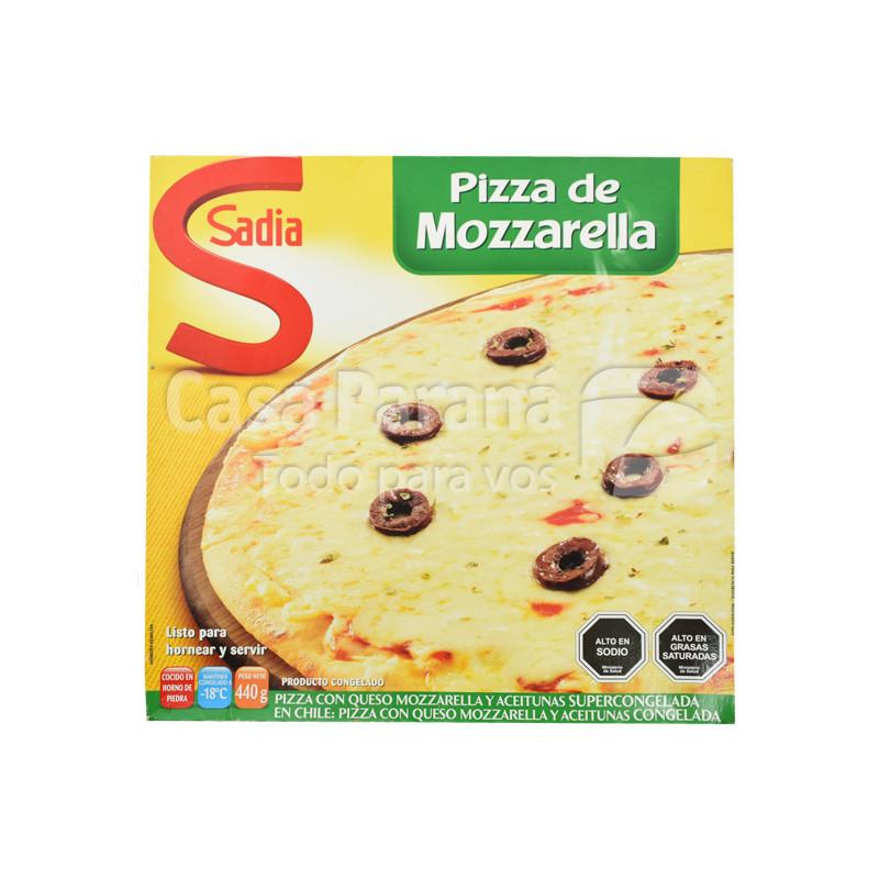 Pizza mozzarella con aceitunas 440gr.