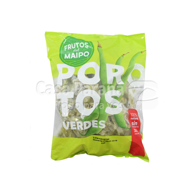 Porotos verdes en paquete de 350gr.