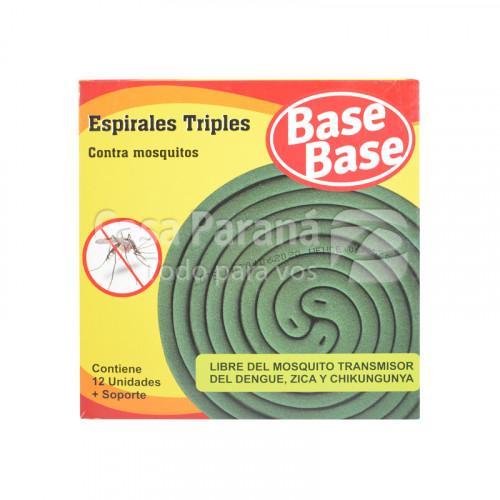 Espirales triples contra mosquitos de 12 unidades