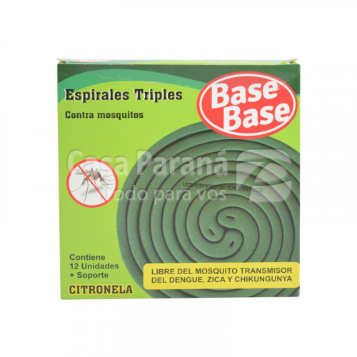Espirales triples con citronela contra mosquitos de 12 unidades