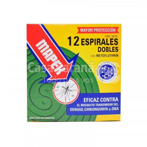 Espirales dobles contra mosquitos de 12 unidades