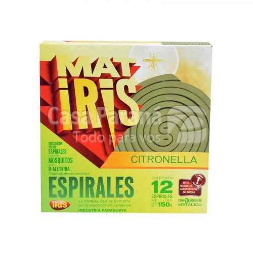 Espirales con citronela contra mosquitos de 12 unidades