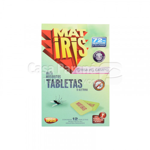 Tabletas para mosquito de 12 unidades