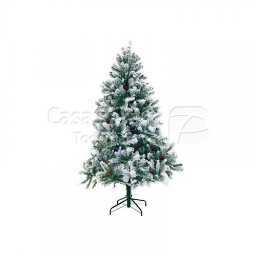 Arbolito navideño con nieve y cereza de 1.50 cm
