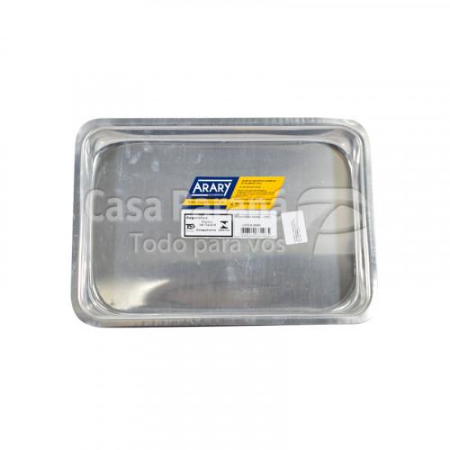 Asadera baja de aluminio de 2 litros