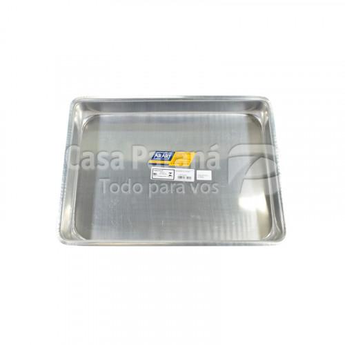 Asadera rectangular de alumino de 45x30 de 8,3 litros