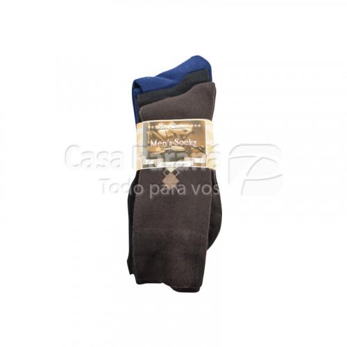 Media de vestir para caballero de 3 piezas calce del