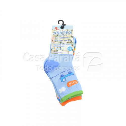 Media para ciatura de 3 piezas calce del 22 al 30