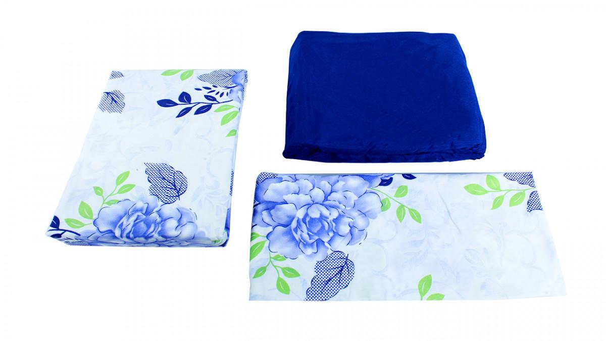 Juego de sábana de 3 piezas de 90x1.90X30 100% algodón